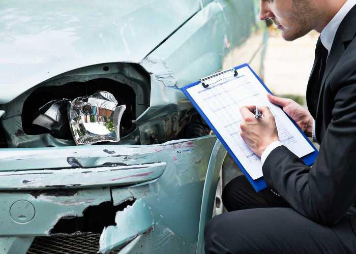 повреждение авто